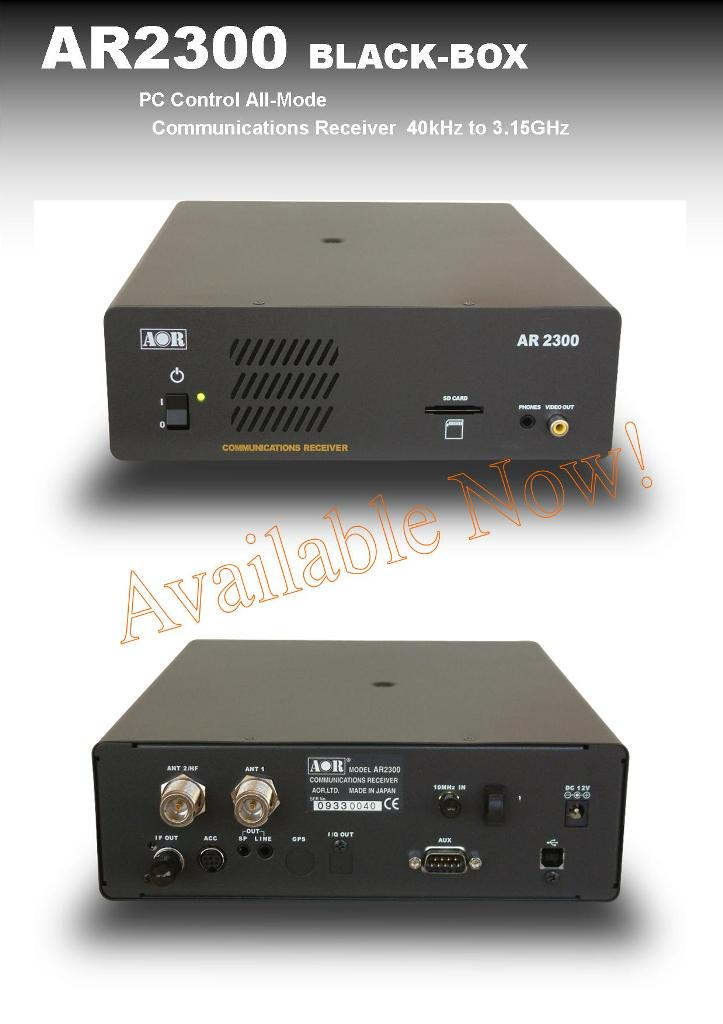 AR2300 | RECEIVERS | AOR,LTD  Authority On Radio Communications