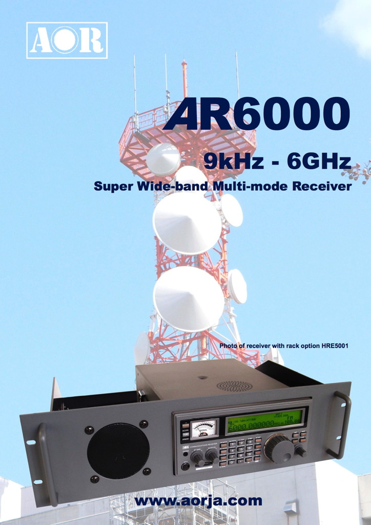 AR6000 | RECEIVERS | AOR,LTD  Authority On Radio Communications