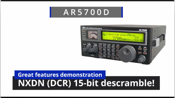 AR5700D NXDN descramble promovideo